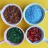 供应装饰用彩色玻璃砂 水磨石地坪用蓝色玻璃砂 红色玻璃砂