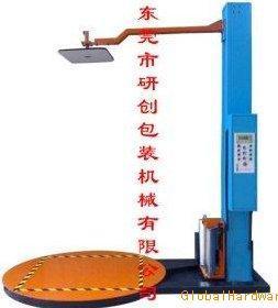 自动压顶预拉伸缠绕打包机 广东惠州深圳广州栈板缠绕机