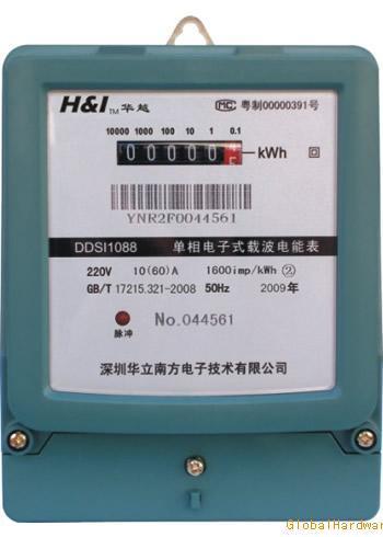 DDSI1088 A型单相电子式载波电能表
