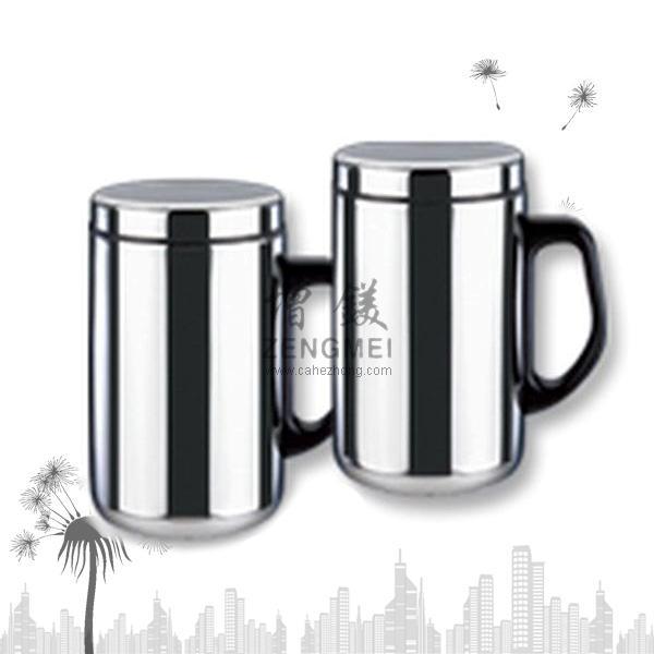 不銹鋼辦公杯,雙層保溫水杯,四季杯