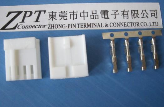 2.54mm间距小四P端子 胶壳 连接器
