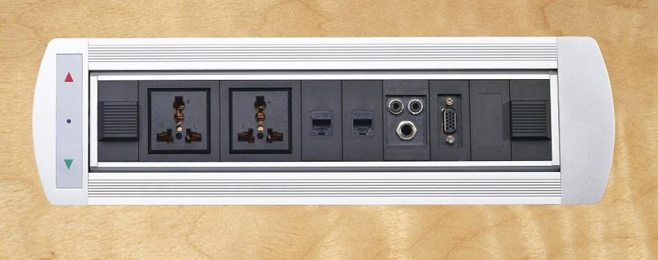大量供应多功能桌面插座/电动翻转集成线盒