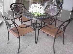 泉州创佳 酒店休闲家具、太阳伞、垃圾桶、实木桌椅