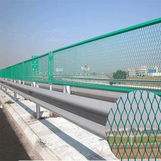 钢板网桥梁防眩网,防抛网,高速护栏网