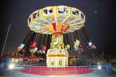 搖頭飛椅,小飛椅,水果旋風,公園新型游樂設備