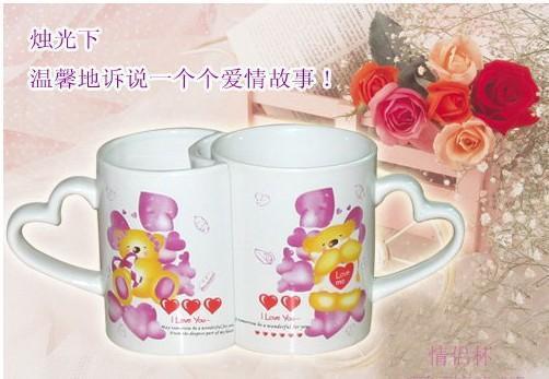 河南郑州英达热转印杯子全彩变色杯 情侣杯