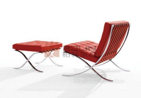 巴塞罗那椅,不锈钢沙发