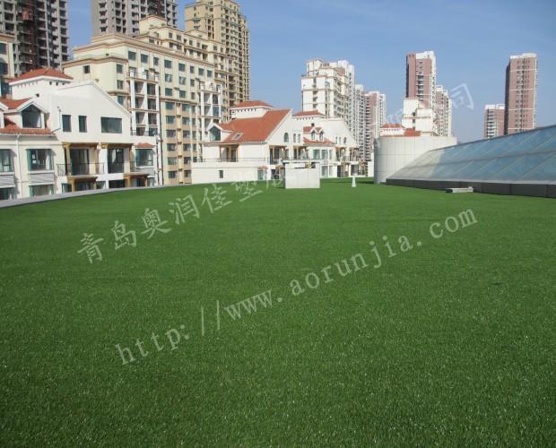 屋頂裝飾人造草坪-綠化人造草坪