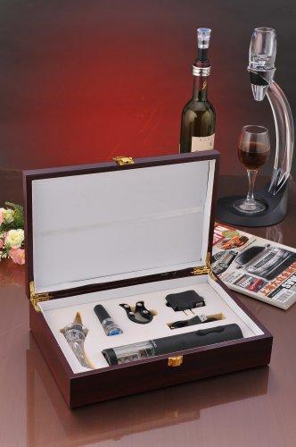 凯曼隆kmlong品牌红酒电动开开瓶器 自动开瓶器 红木套装