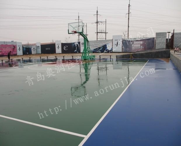 煙臺硅OU籃球場-硅PU球場設計