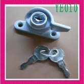 铝合金门窗月牙锁带钥匙推拉锁