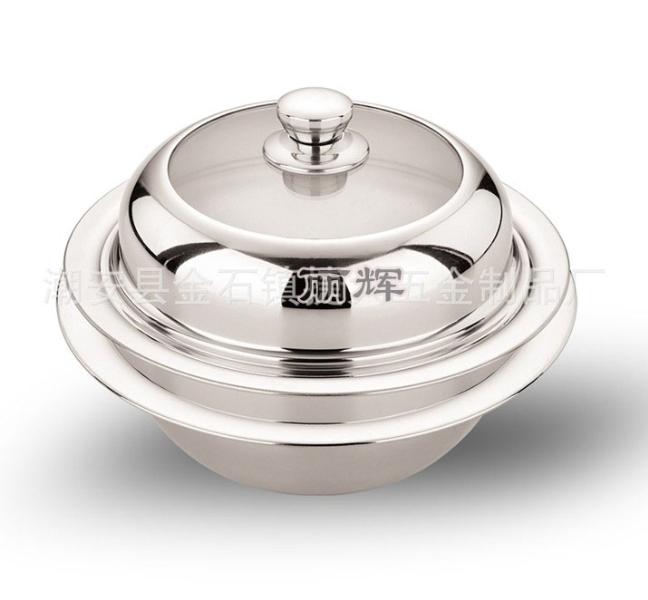 禮品推薦不銹鋼多功能蒸鍋火鍋飛碟蒸湯鍋湯蒸兩用鍋30CM