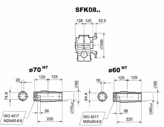 SFK08齒輪減速電機|泰隆標減速電機