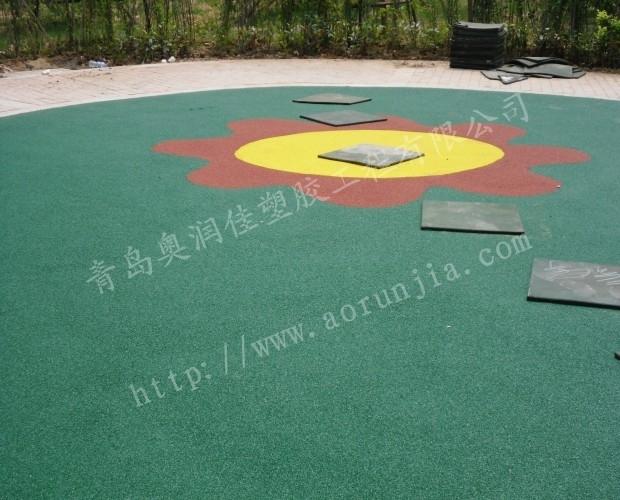 幼儿园弹性塑胶-幼儿园室外地面铺装