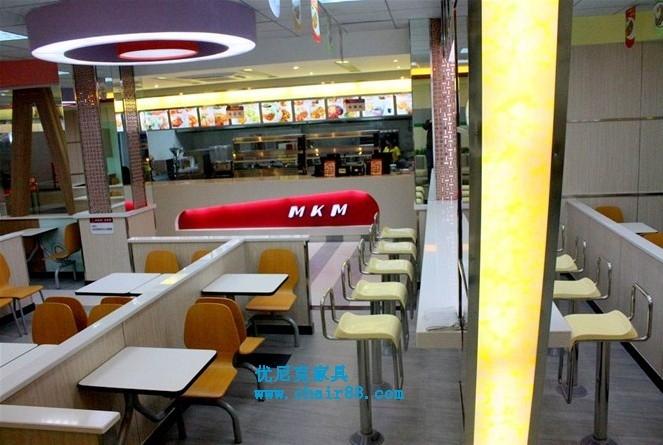色彩齊全的快餐廳桌椅,餐飲桌椅供應廠家