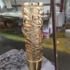 铜铝镂空雕刻K金屏风 客厅装饰屏风隔断 可定制图案
