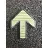 不銹鋼發光箭頭地鐵站地面疏散標志蓄光不銹鋼上下車指示夜光標牌