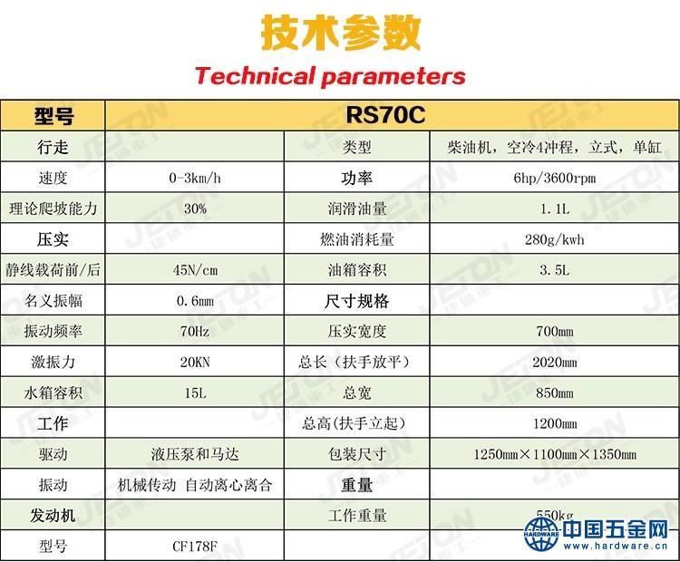RS70C技术参数-750