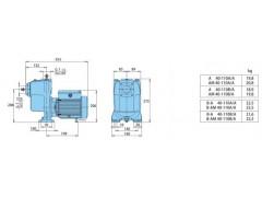 Calpeda科沛達水泵A 帶開式葉輪的自吸離心泵  結構