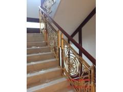 铝艺楼梯扶手设计 雕刻扶手比较多种设计图案