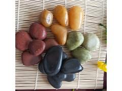 供應室內裝飾用精品鵝卵石 黑色鵝卵石 紅色鵝卵石