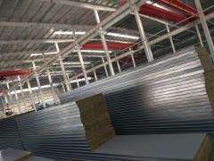 厂家直销 950型墙面防火保温岩棉夹芯板 双面金属彩钢复合板
