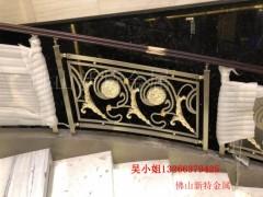 改造一下別墅新型銅樓梯銅雕花樓梯扶手效果