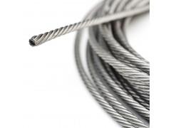 耐磨不銹鋼絲繩 304L不銹鋼彩色包塑繩 纜車繩價格