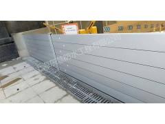 上海杨浦地下室防汛挡水板铝合金防洪阻水板安装