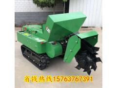 履帶多功能開溝施肥旋耕機 柴油微耕機自走式深耕開溝器機身小巧