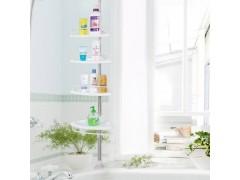 顶天立地不锈钢置物架四层墙角整理架卫生间转角收纳架浴室三角架