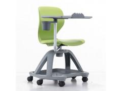 塑料培训椅可旋转 360度学习写字板椅 办公会议会客椅