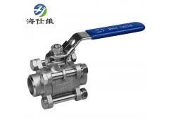 康威集团供应 海仕维 316/304不锈钢3片式对焊式球阀
