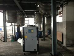 防止反應釜升溫發熱用反應釜冷凍機組