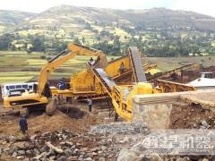 流動式磕石機 可移動的破碎制沙生產線FRR90