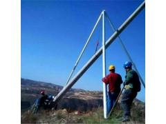 貴州省三腳鋁管法蘭立10米立桿機處于高度形式