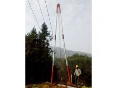 抱箍連接鋁合金抱桿立10米線桿