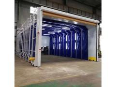 移動伸縮噴漆房性能結構特點 配置報價單