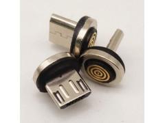 MICRO 帶數據磁吸公頭 5點單探針 圓形底座 磁吸插頭