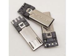 MICRO 5P 焊線公頭插頭加長外露11 13mm前五后四