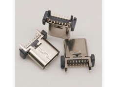 Type-c16P立式母座立貼高度9.3 10.5 12.4