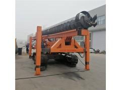 13米长螺旋打桩机 履带式CFG灌桩机 长螺旋引孔机楼房基础