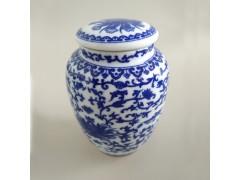 中號青花陶瓷茶葉罐  定制款陶瓷茶葉罐