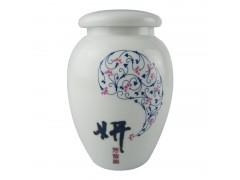 中號帶蓋陶瓷藥罐  中式陶瓷藥粉罐