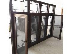 酒店新中式裝修仿古門窗 冠墅陽光現代仿古門窗源頭廠家