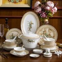 节庆活动赠品陶瓷餐具碗盘 餐具碗盘印logo文字定制